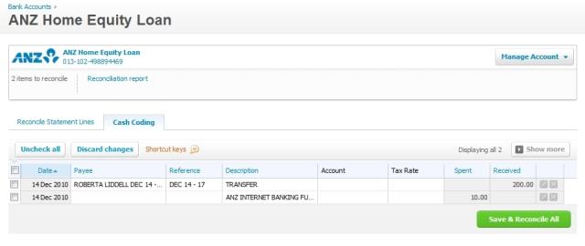 Coding transactions in Xero