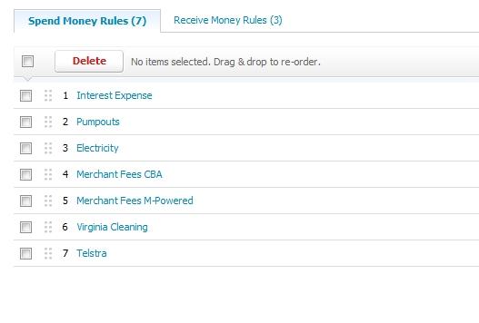 My Xero Bank Rules